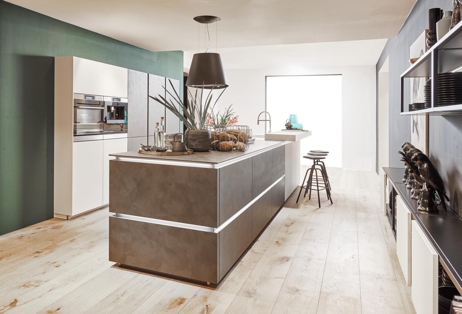 Koje 14 Glas Tec Satin – Weiß / Portland – Zement Anthrazit