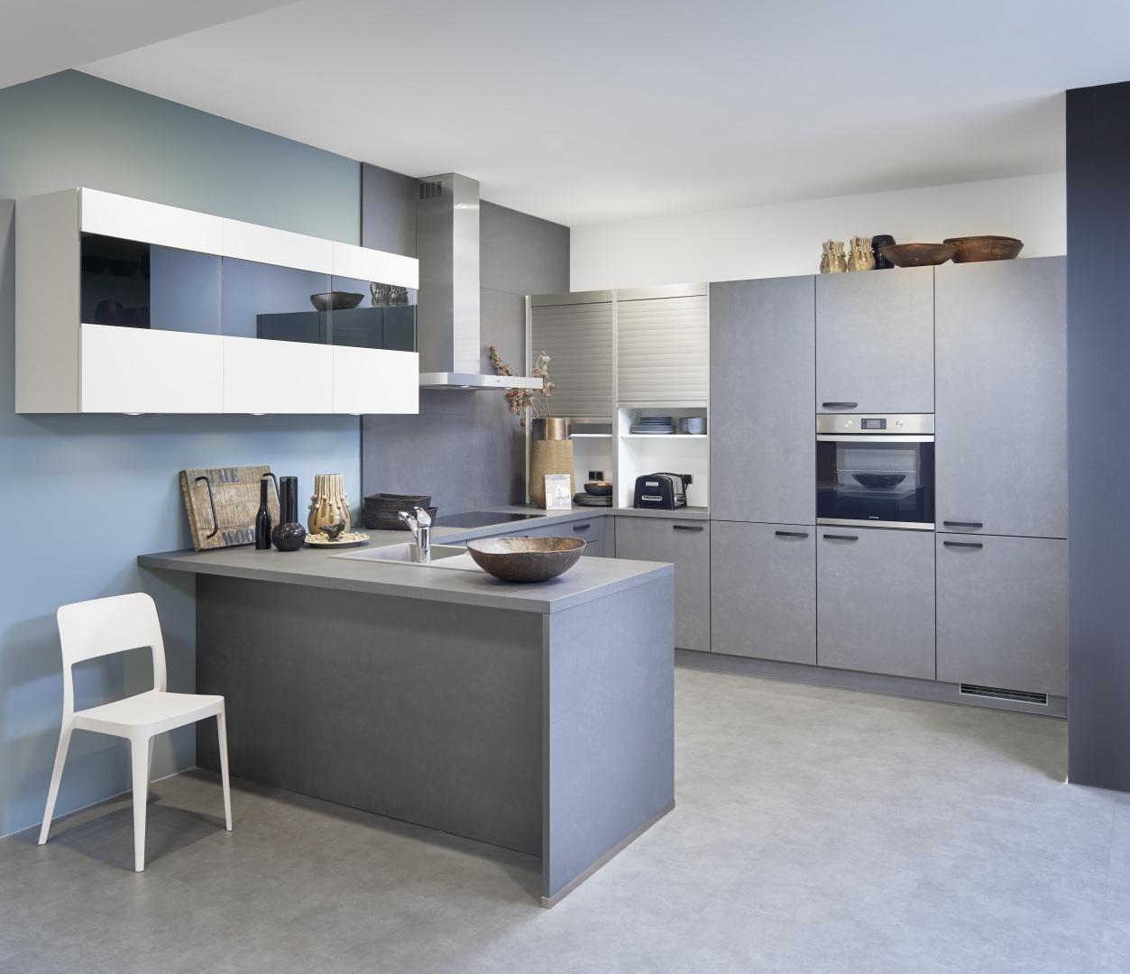 eco Koje 03 Florenz – Weiß / Modena – Stahl grau